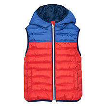 Buy Mango Kids Boys' Hooded Quilted Gilet, Orange Online at johnlewis.com