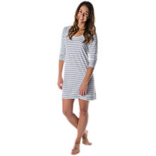 Buy Splendid Stripe Nightdress, White/Black Online at johnlewis.com