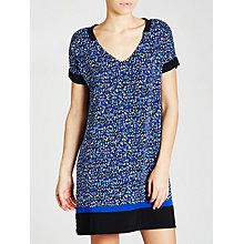 Buy DKNY Colour Blocked Dot Nightdress, Blue Multi Online at johnlewis.com