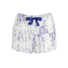 Buy Calvin Klein Graphic Bonded Skin Print Pyjama Shorts, White/Blue Online at johnlewis.com