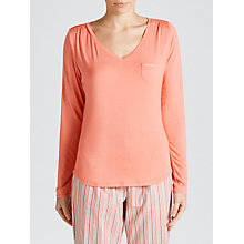 Buy Calvin Klein V-Neck Pyjama Top, Pink Online at johnlewis.com