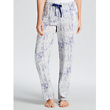 Buy Calvin Klein Graphic Bonded Skin Print Pyjama Pants, White/Blue Online at johnlewis.com