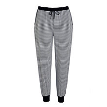 Buy DKNY Urban Essentials Stripe Capri Lounge Pants, Black/White Online at johnlewis.com