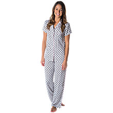 Buy Splendid Vintage Stamp Pyjama Set, White/Black Online at johnlewis.com