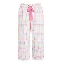 Buy John Lewis Vintage Check Cropped Pyjama Pants, White/Pink Online at johnlewis.com