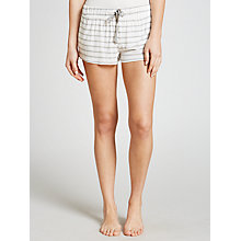 Buy Splendid Jersey Stripe Pyjama Shorts, White/Grey Online at johnlewis.com