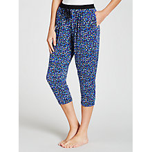 Buy DKNY Colour Blocked Dot Pyjama Pants, Blue Multi Online at johnlewis.com