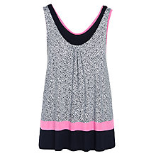 Buy DKNY Heart To Please Capri Tank Top, White/Black Online at johnlewis.com
