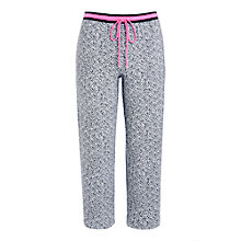 Buy DKNY Heart To Please Capri Pyjama Pants, White/Black Online at johnlewis.com