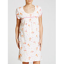 Buy John Lewis Vintage Floral Print Nightdress, White/Pink Online at johnlewis.com