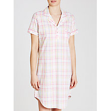 Buy John Lewis Vintage Check Nightshirt, White/Pink Online at johnlewis.com