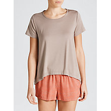 Buy Calvin Klein Pyjama Top, Grey Sand Online at johnlewis.com