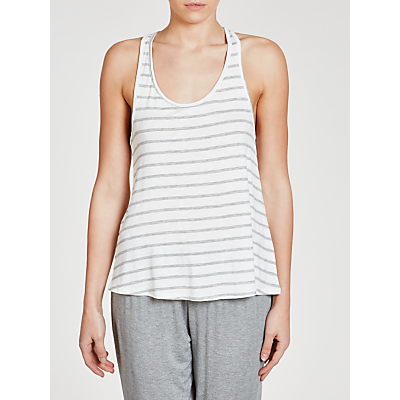 Splendid Stripe Vest Top, White/Grey
