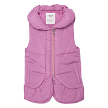 Buy Mango Kids Girls' Quilted Gilet, Purple Online at johnlewis.com