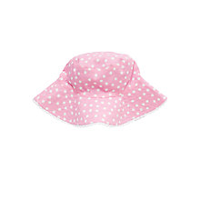 Buy John Lewis Reversible Nautical Stripe and Spot Sunhat, Pink/Blue Online at johnlewis.com