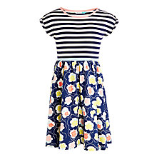 Buy John Lewis Girls' Floral and Stripe Dress, Navy Online at johnlewis.com
