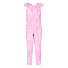 Buy John Lewis Girls' Criss Cross Jumpsuit, Red Online at johnlewis.com