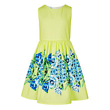 Buy John Lewis Girls' Floral Prom Dress, Yellow Online at johnlewis.com