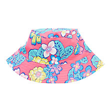 Buy John Lewis Tropical Print Reversible Sunhat, Pink/Blue Online at johnlewis.com