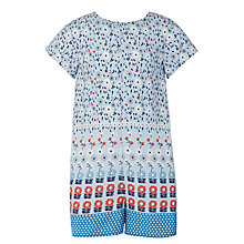 Buy John Lewis Girls' Floral Playsuit, Blue Online at johnlewis.com