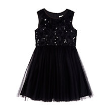 Buy Yumi Girl Textured Rose Prom Dress, Black Online at johnlewis.com