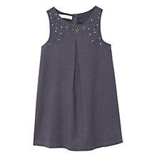 Buy Mango Kids Girls' Embroidered Bead Dress, Charcoal Online at johnlewis.com