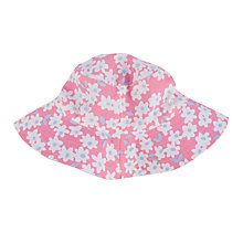 Buy John Lewis Floral Print Reversible Sunhat, Pink/Blue Online at johnlewis.com