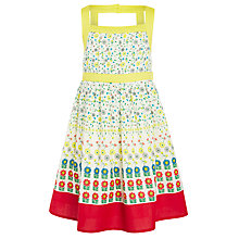 Buy John Lewis Girls' Border Flower Dress, Multi Online at johnlewis.com