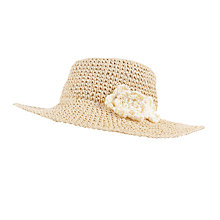 Buy John Lewis Children's Straw Cloche Hat, Natural Online at johnlewis.com