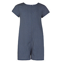 Buy John Lewis Girls' Spot Playsuit, Navy Online at johnlewis.com