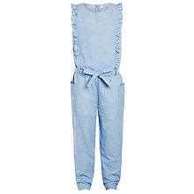 Buy John Lewis Girls' Frill Detail Jumpsuit, Blue Online at johnlewis.com