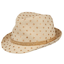 Buy John Lewis Children's Gold Spot Trilby, Natural Online at johnlewis.com