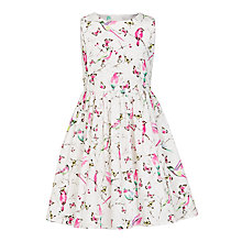 Buy John Lewis Girls' Parrot Print Prom Dress, Multi Online at johnlewis.com