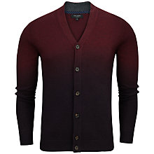 Buy Ted Baker Conveks Sprayed Ombre Cardigan, Dark Red Online at johnlewis.com