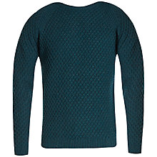 Buy Ted Baker Morrelo Textured Raglan Jumper, Dark Green Online at johnlewis.com