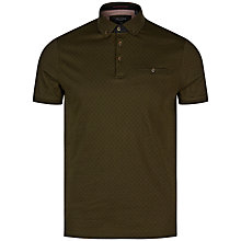 Buy Ted Baker Mendosa Polo Shirt, Olive Online at johnlewis.com