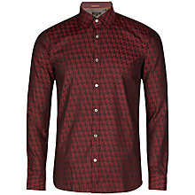Buy Ted Baker Thomaz Large Dogtooth Shirt, Red Online at johnlewis.com