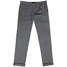 Buy Ted Baker Snaddle Straight Jeans, Grey Online at johnlewis.com