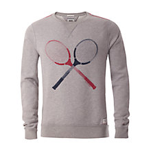 Buy Hilfiger Denim Basic Logo Tennis Sweater, Light Grey Heather Online at johnlewis.com