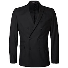 Buy Selected Homme Double Breasted Blazer, Black Online at johnlewis.com