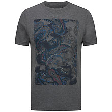 Buy Ted Baker Kestrol Paisley Print T-Shirt, Grey Online at johnlewis.com