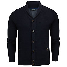 Buy Ted Baker Jimboe Textured Cardigan, Navy Online at johnlewis.com