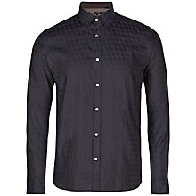 Buy Ted Baker Thomaz Large Dogtooth Shirt, Navy Online at johnlewis.com