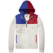 Buy Hilfiger Denim Nylon Colour Panel Hoodie, Marshmallow Online at johnlewis.com