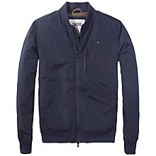 Buy Hilfiger Denim Modern Bomber Jacket, Navy Blazer Online at johnlewis.com