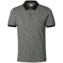 Buy Selected Homme Polo Shirt, Grey Online at johnlewis.com