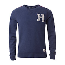 Buy Hilfiger Denim Basic Logo Sweater, Navy Blazer Heather Online at johnlewis.com