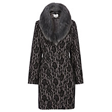 Buy Coast Morzine Lace Bonded Coat, Silver Online at johnlewis.com