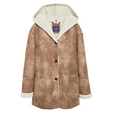 Buy Violeta by Mango Faux Shearling Lined Jacket, Dark Brown Online at johnlewis.com