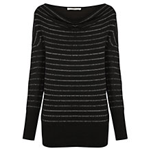 Buy Oasis Stripe Cowl Neck Jumper, Multi Silver Online at johnlewis.com